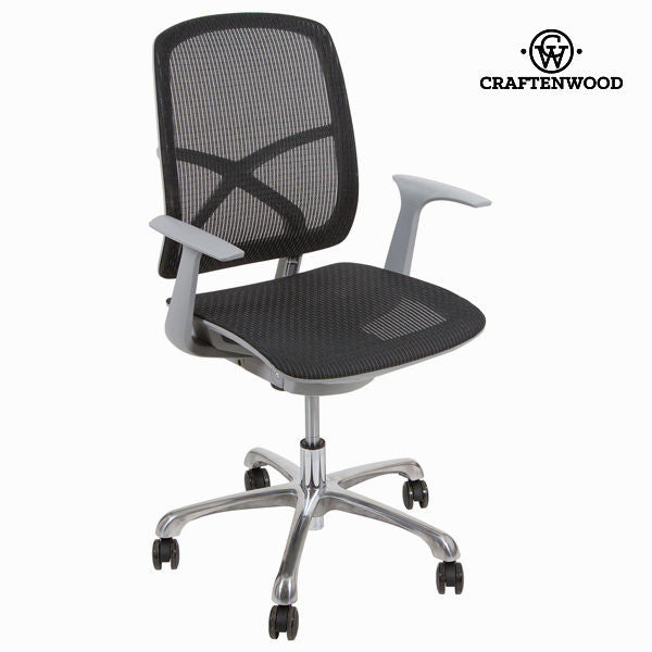 Black grid office chair by Craften Wood
