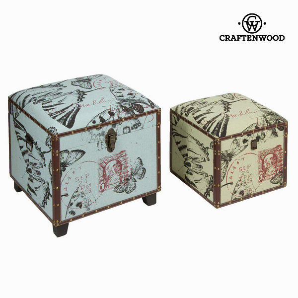 Set of 2 storage chests - Printed Collection by Craften Wood