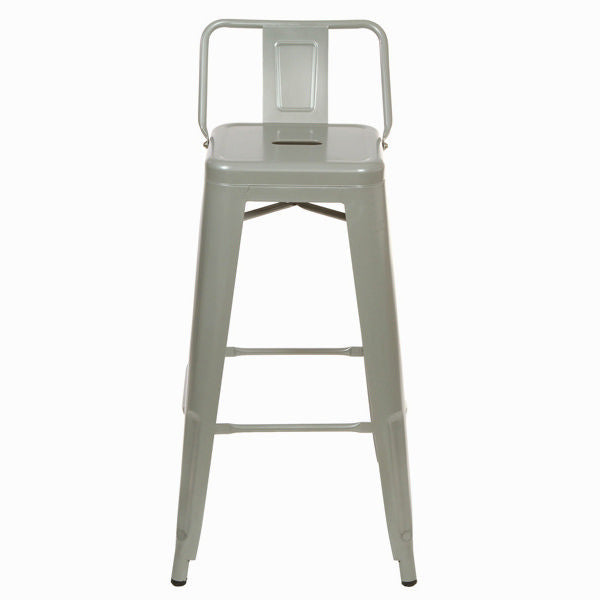 Silver metal bar stool by Craften Wood