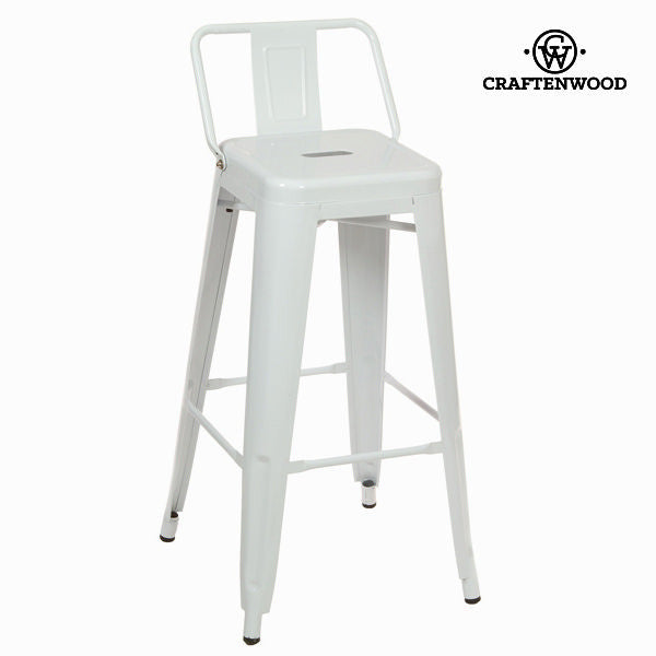 White metal bar stool by Craften Wood