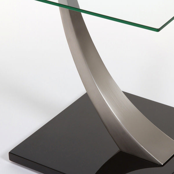 Line steel side phone table by Craften Wood