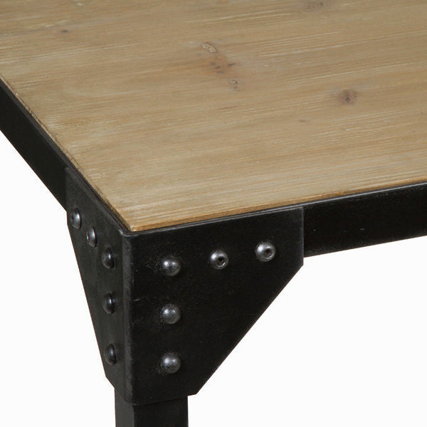 Wood and metal dining table toronto - Thunder Collection by Craften Wood