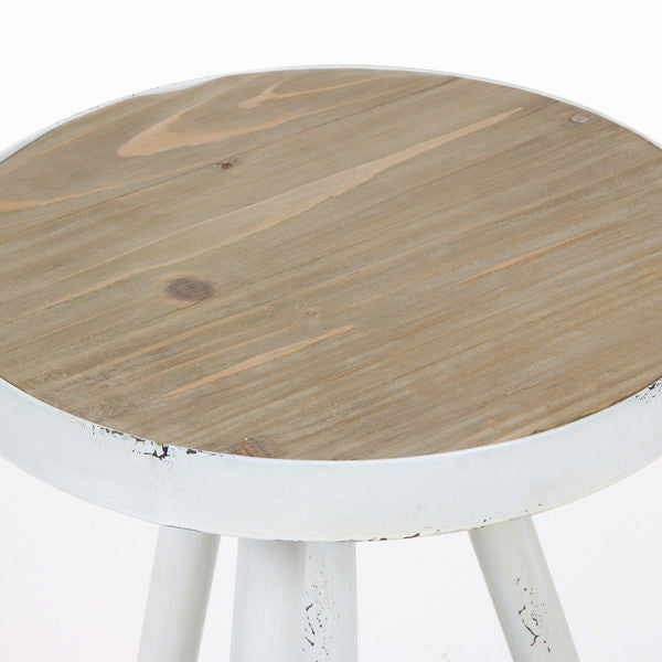 Round end table by Craften Wood