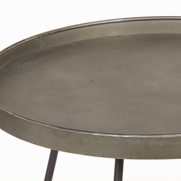 Metal oval table by Craften Wood