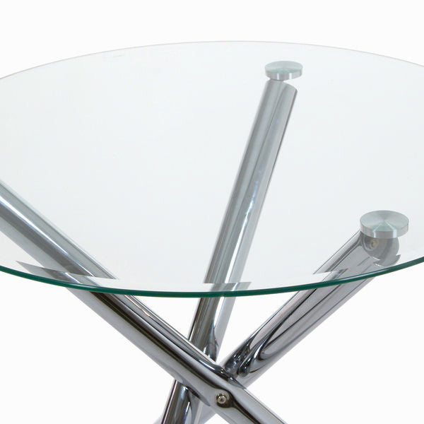 Round table with metal legs by Craften Wood