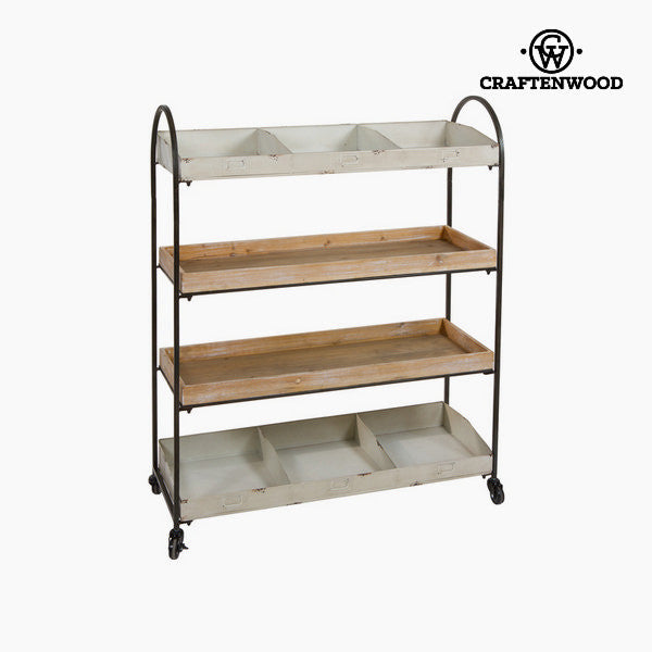 Wood with metal shelf by Craftenwood
