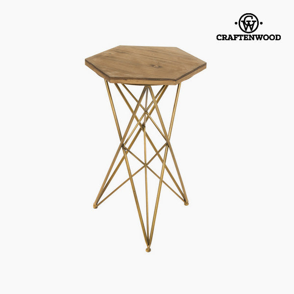 Wood with metal sidetable by Craftenwood