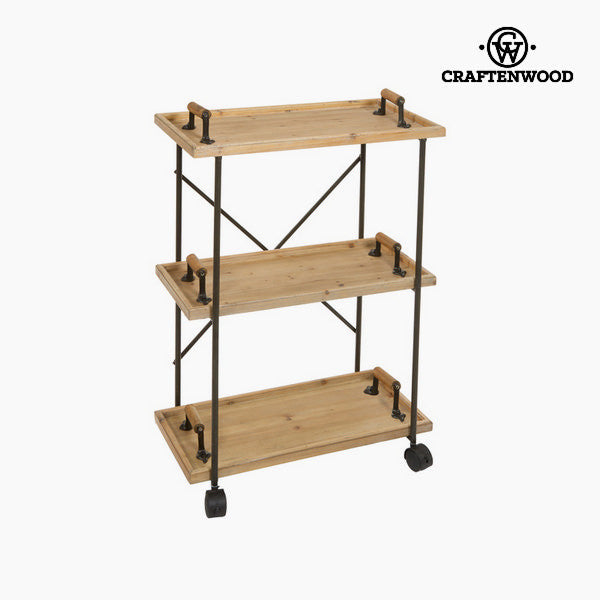 Wood and metal shelf by Craftenwood