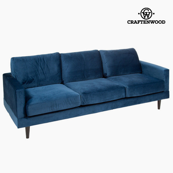 Three seater sofa blue cos by Craftenwood