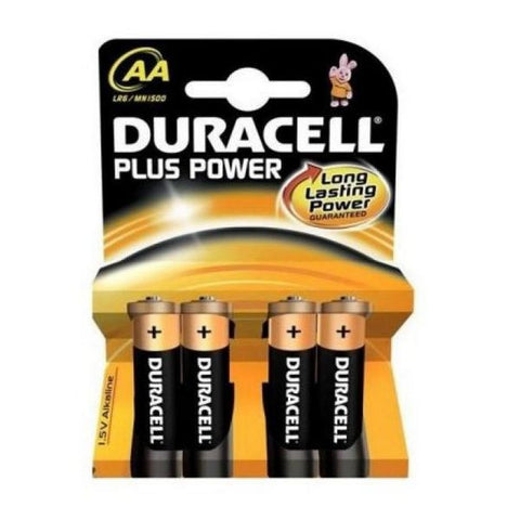Duracell Alkaline Battery Plus Power LR6 AA PACK-4