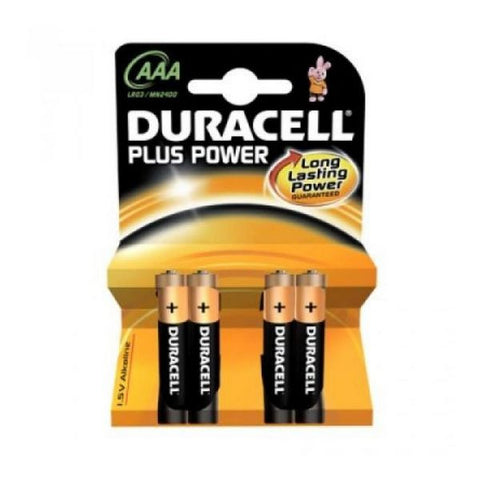 Duracell Alkaline Battery Plus Power LR3 AAA PACK-4