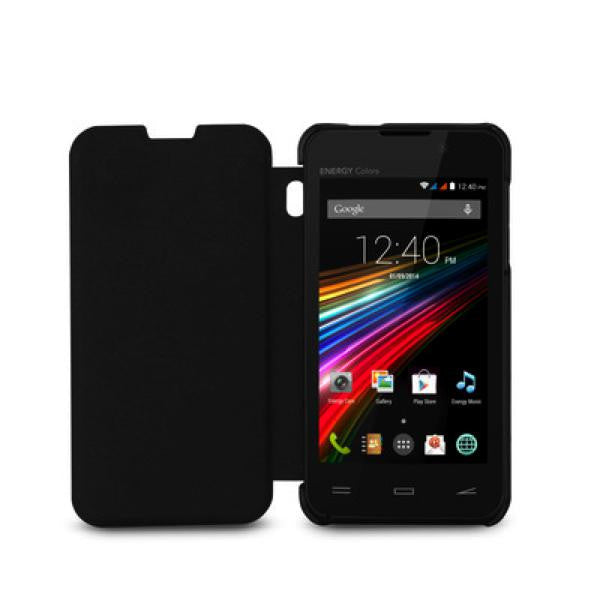 Energy Phone Cover Colours Cover with Flap Black