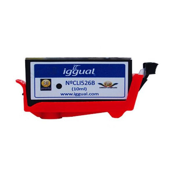 iggual Recycled Ink Cartridge Canon CLI526B Black