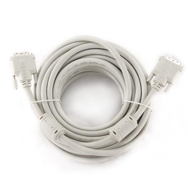 iggual Cable Vídeo Digital DVI-D Dual 10 M. White