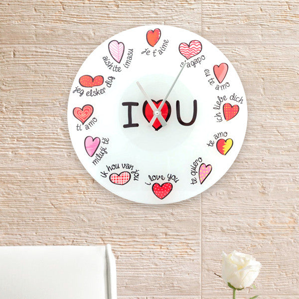 I Love You Multilingual Wall Clock