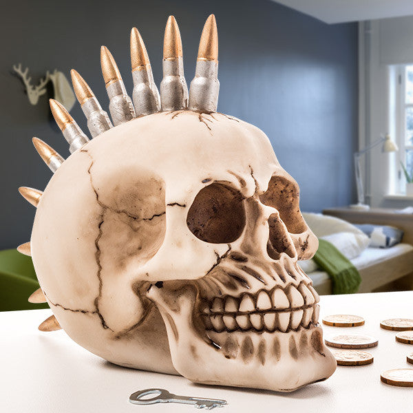 Punk Skull Money Box