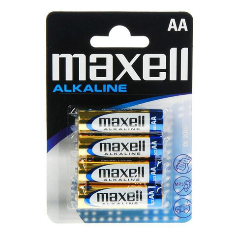 Maxell Alkaline Battery 1.5V Tipo AA Pack4