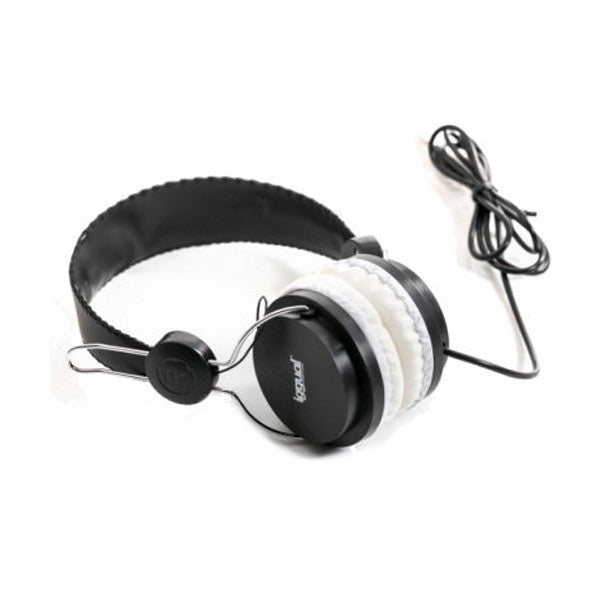 iggual PRO Headphones Black/White 3.5mm