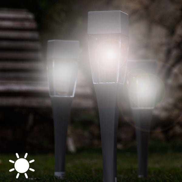 Square Solar Garden Torch (pack of 4)