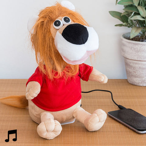Dancer Stuffed Lion with Speaker