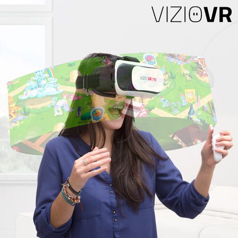 VIZIOVR 710 Virtual Reality Glasses with Remote Control