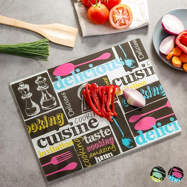 Collage Chopping Board