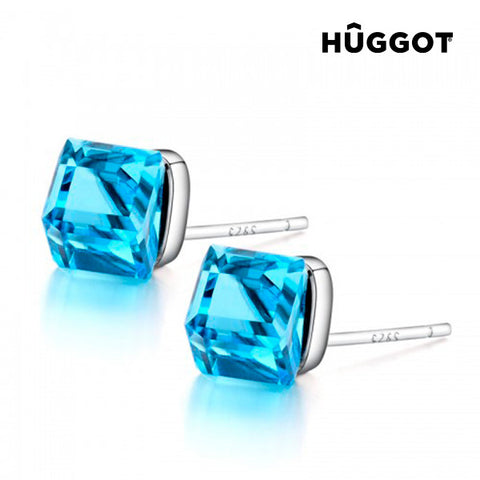 Hûggot Dimension 925 Sterling Silver Earrings Created with Swarovski®Crystals