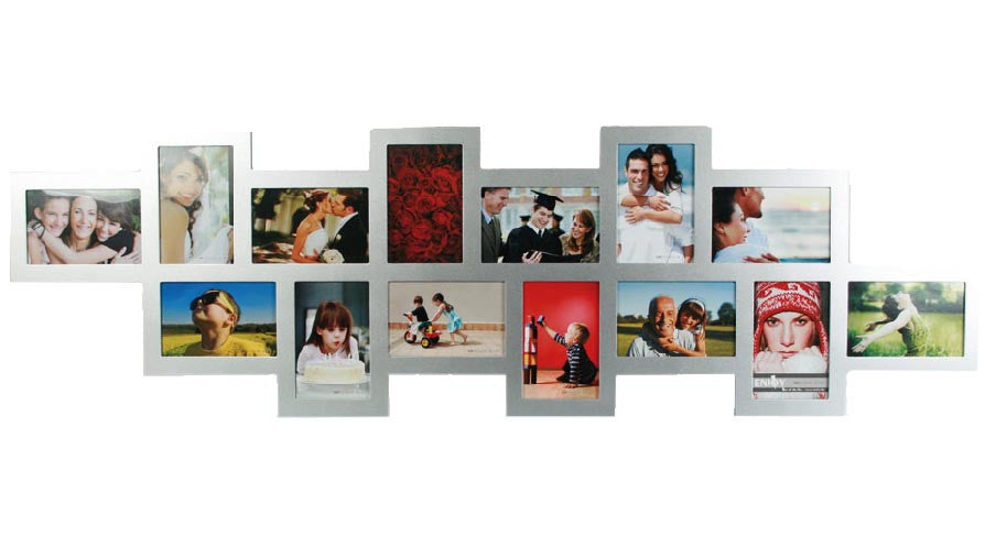 Offset Silver Wood Photo Frame