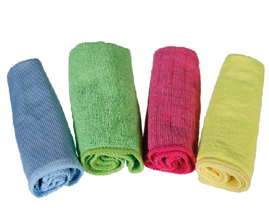 Microfibre Cloths (Set of 4 Colours)