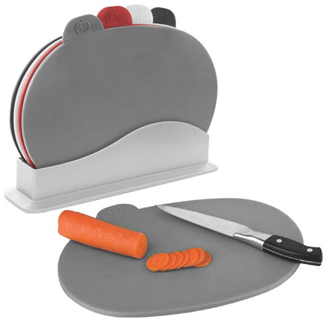 Chopping Board Set with Stand (5 pieces)