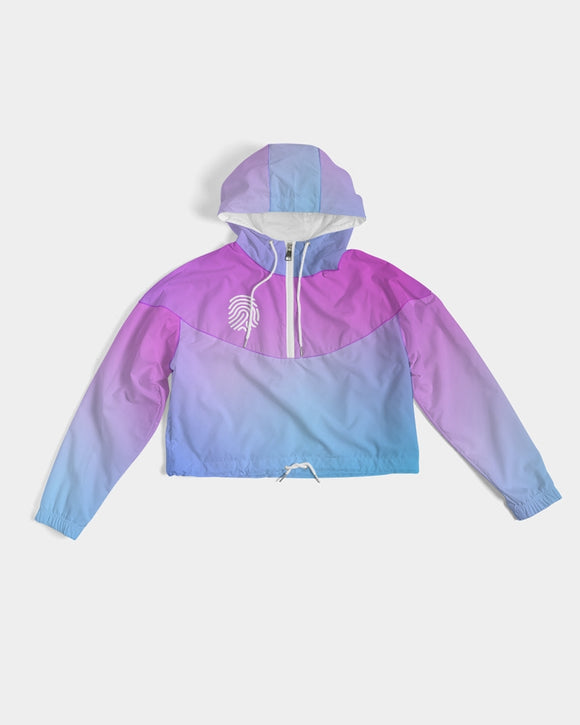 Blupurp1 Women's Cropped Windbreaker - U-Tru