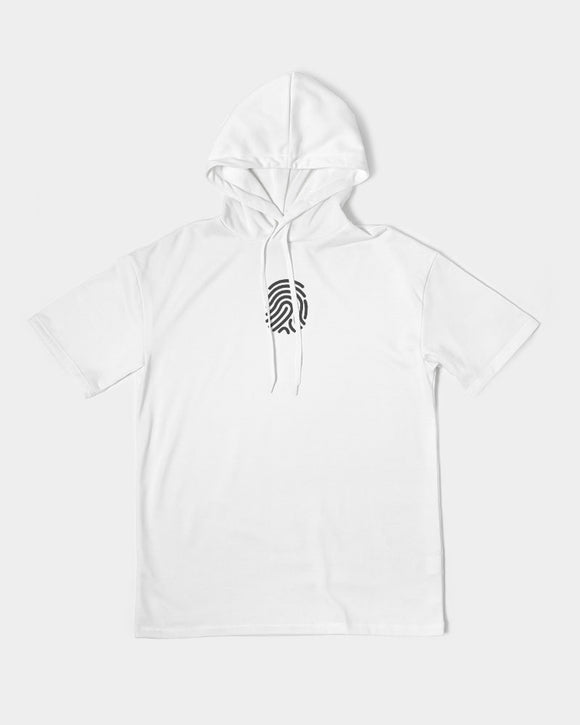 Fingerprint Men's Premium Heavyweight Short Sleeve Hoodie - U-Tru