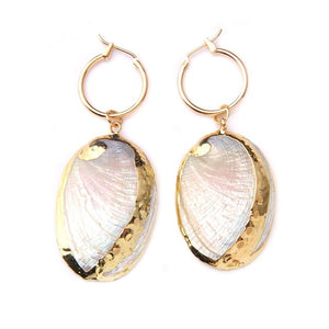 Women's Statement Sea Shell Earrings