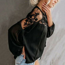 Load image into Gallery viewer, Chiffon Lace Top