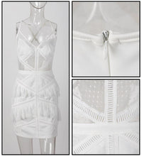 Load image into Gallery viewer, White Ruffled Lace Dress