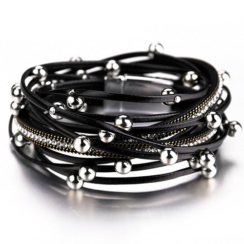 Multi-Layer Black Bracelet