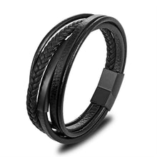 Load image into Gallery viewer, Men's Multi-layer Leather Bracelet