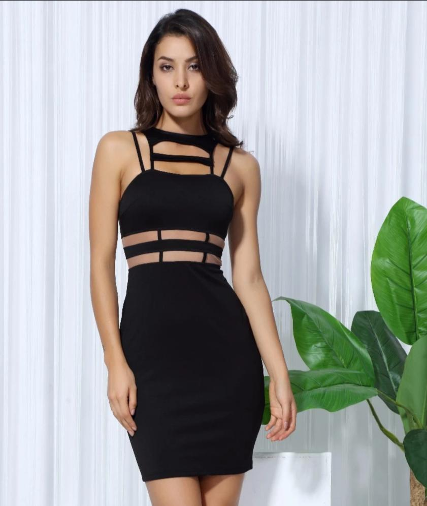 Cut-Out Black Dress