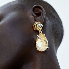 Load image into Gallery viewer, Gold Metal Drop Earrings