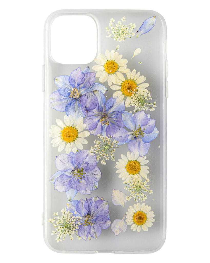 Blue Heaven Nalana Cases iPhone 11 pro max real pressed flower case tpu gedroogde bloemen telefoonhoesje