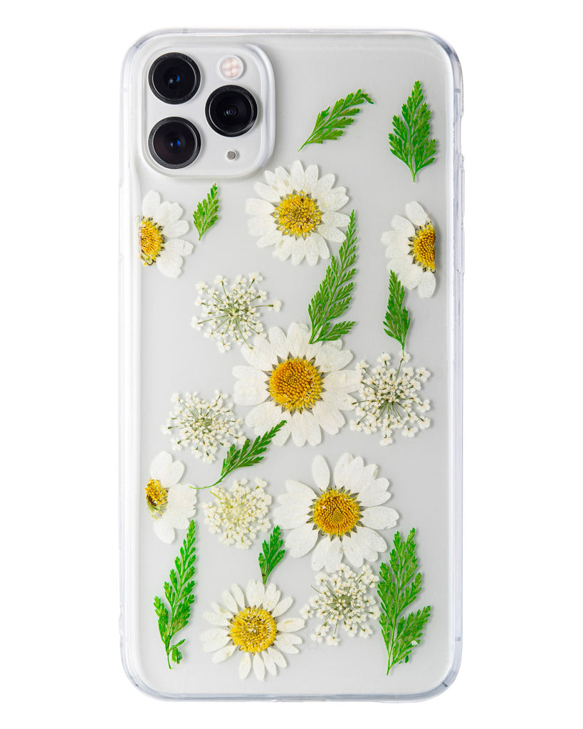 Early Spring Nalana Cases iPhone 11 pro max real pressed flower case tpu gedroogde bloemen telefoonhoesje