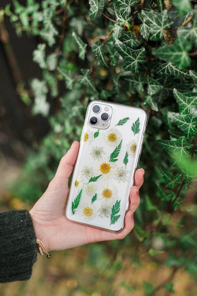Early Spring Nalana Cases iPhone hoesje echte bloemen droogbloemen tpu pressed flowers case iPhone Samsung