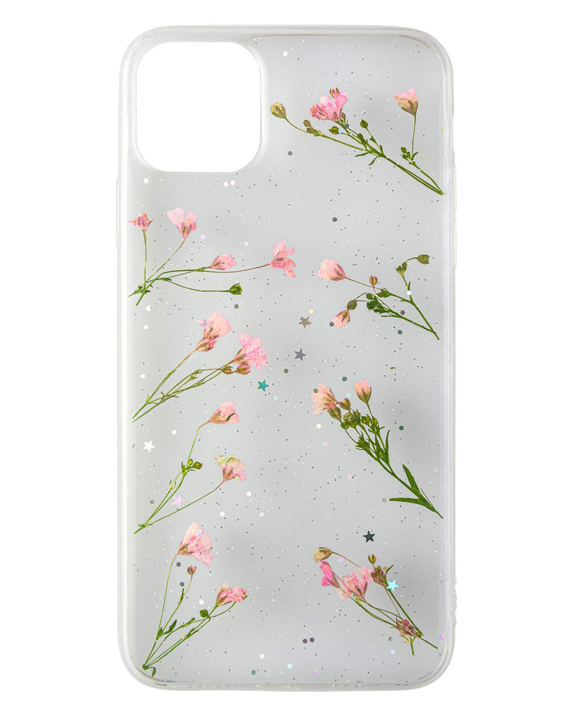 Feminine Strength Nalana Cases iPhone 11 Pro Max real pressed flower case tpu gedroogde bloemen