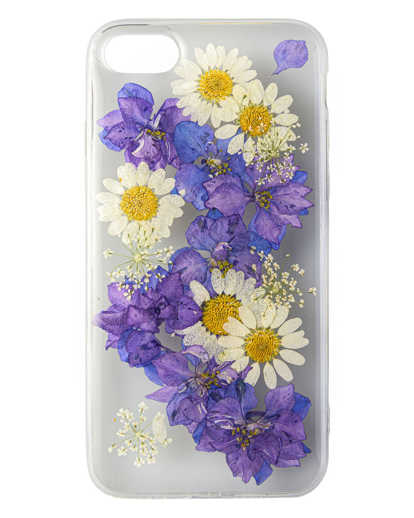 Floral River Nalana Cases iPhone 7 8 apple real pressed flower case tpu gedroogde bloemen telefoon hoesje
