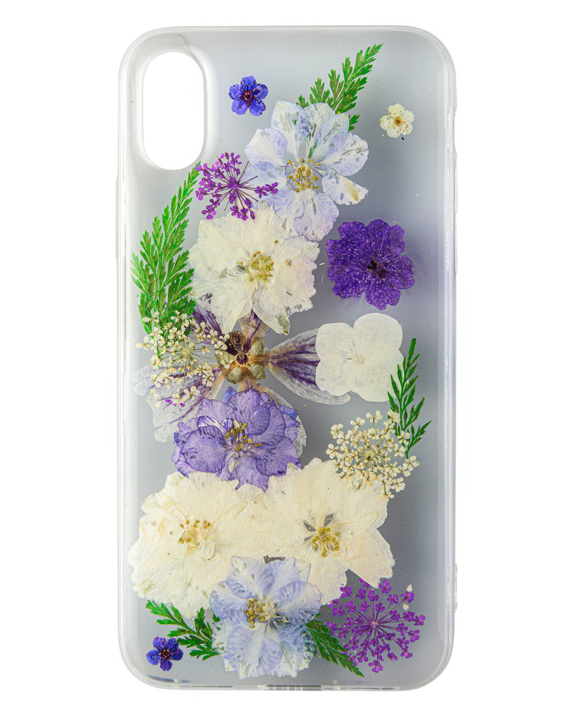 Lush Lilac Nalana Cases iPhone X real pressed flower case tpu gedroogde bloemen telefoon hoesje