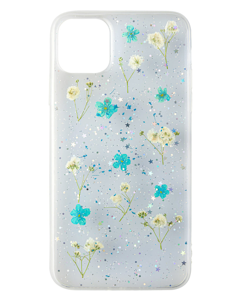 Morning Rain Nalana Cases iPhone 11 Pro Max real pressed flower case tpu gedroogde bloemen telefoonhoesje