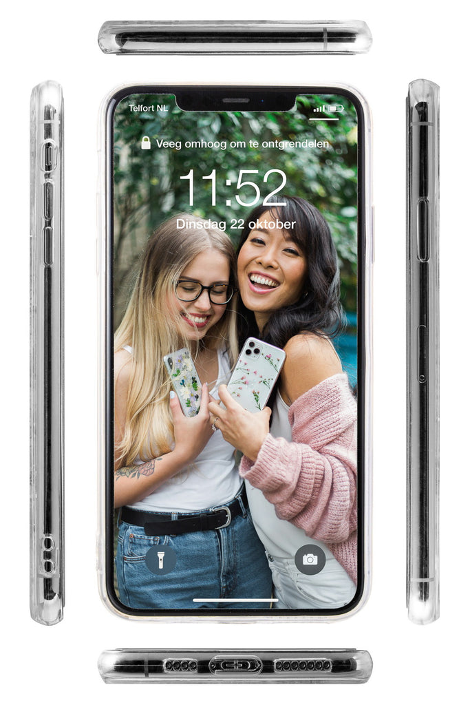 Nalana Cases all sides iPhone case transparent tpu Alle kanten telefoonhoesje