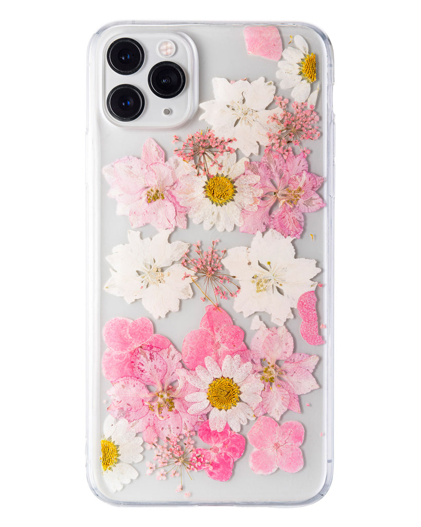 Sweet Surrender Nalana Cases iPhone 11 Pro Max real pressed flower case tpu gedroogde bloemen telefoonhoes