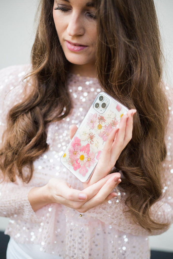 Sweet Surrender Nalana Cases preserved flowers Flower preservation bloempreparatie tpu iPhone hoes telefoonhoesje