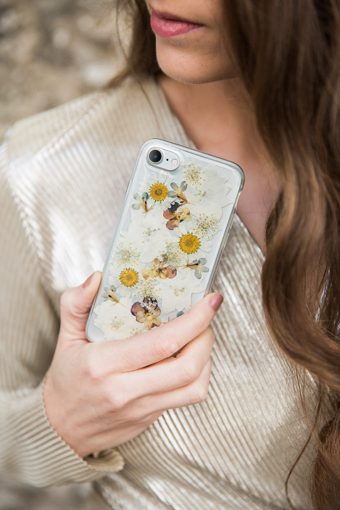 Vintage Garden Nalana Cases tpu transparent iPhone case flexible pressed flowers preserved bloempreparatie